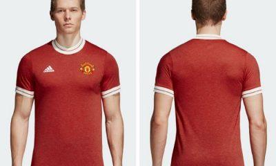 Manchester United 2018 adidas Icon Soccer Jersey, Football Kit, Soccer Shirt, Camiseta de Futbol, Maillot, Camisa, Trikot