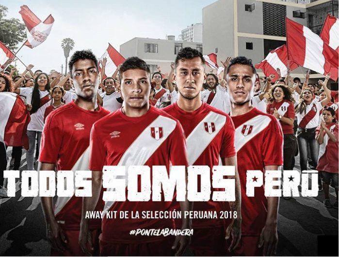 62e80a5bf8f Peru 2018 World Cup Umbro Away Jersey - FOOTBALL FASHION.ORG