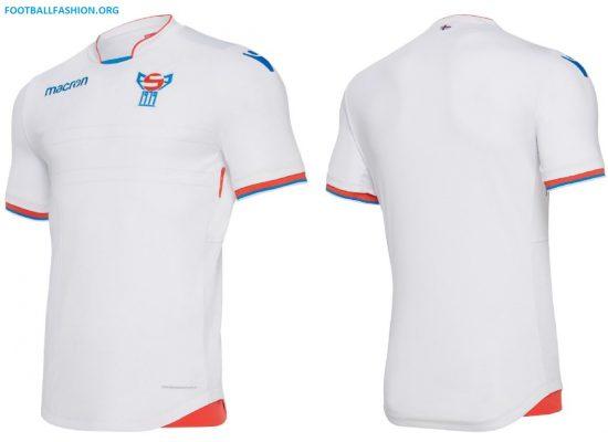 Faroe Islands 2018 2019 Macron Home and Away Football Kit, Soccer Jersey, Shirt