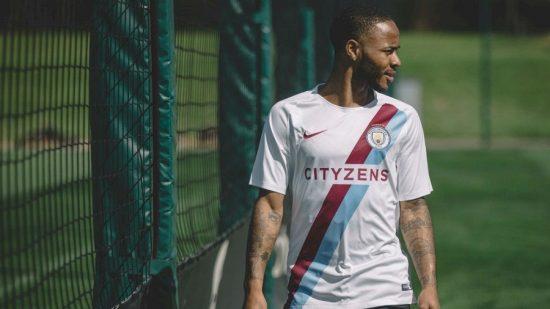 Manchester City FC 2018 White Champions Football Kit, Shirt, Soccer Jersey, Maillot, Camiseta, Camisa, Trikot, Tenue