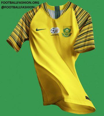 South Africa 2018 2019 Nike Home Soccer Jersey, Football Kit, Shirt
