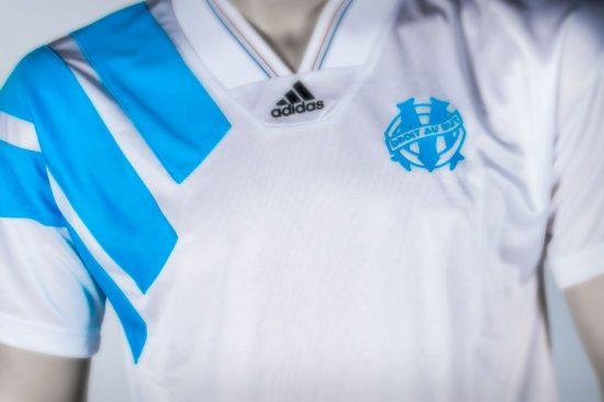Reissue: Olympique Marseille 1993 Champions League Winner's adidas Football Kit, Soccer Jersey, Shirt, Maillot