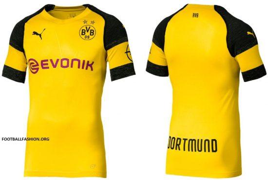 Borussia Dortmund 2018 2019 PUMA Home Football Kit, Soccer Jersey, Shirt, Trikot, Heimtrik0t, Maillot, Camiseta, Camisa