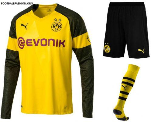 Borussia Dortmund 2018 2019 PUMA Home Football Kit, Soccer Jersey, Shirt, Trikot, Heimtrikot, Maillot, Camiseta, Camisa