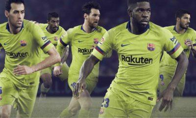 FC Barcelona 2018 2019 Nike Yellow Away Football Kit, Soccer Jersey, Shirt, Camiseta, Equipacion, Camisa, Maillot, Trikot, Tenue
