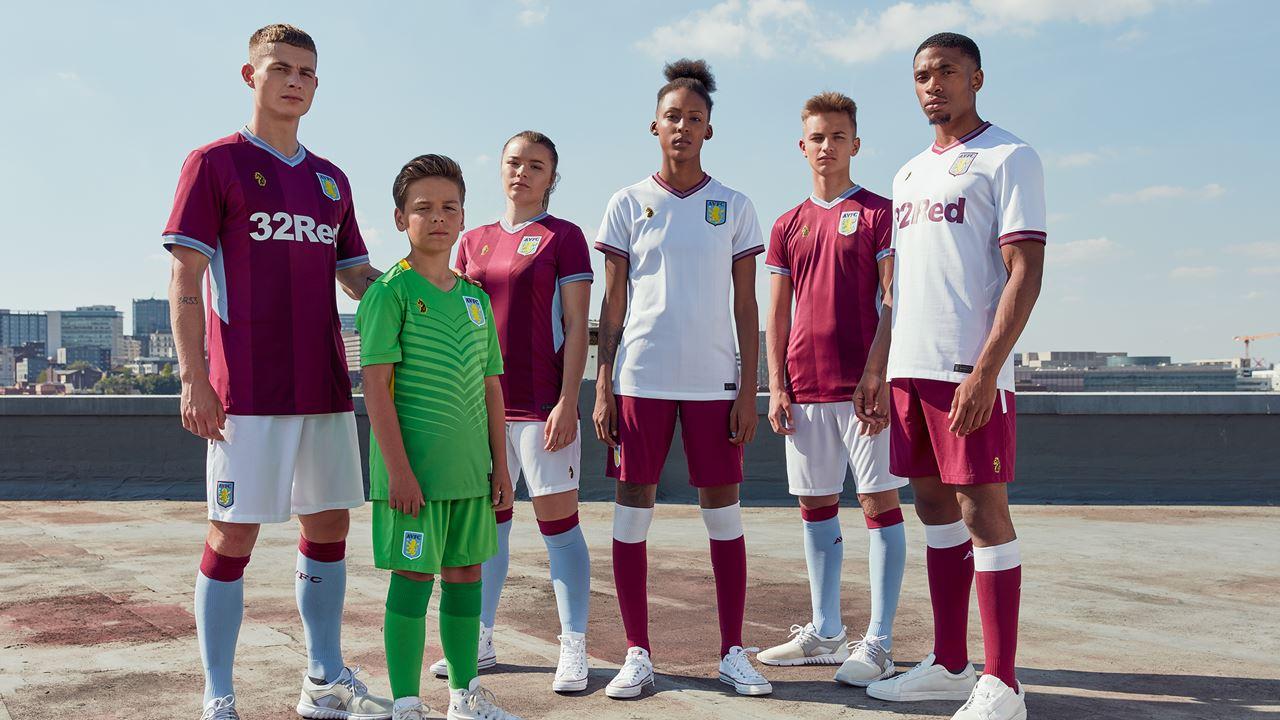 Aston Villa 2018 19 Home And Away Kits Football Fashion