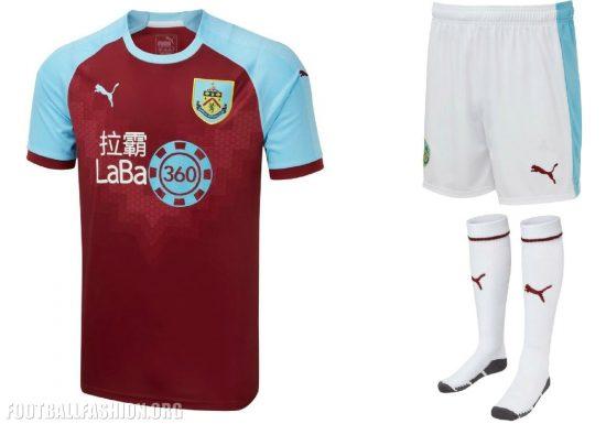 Burnley FC 2018 2019 PUMA Home Football Kit, Soccer Jersey, Shirt