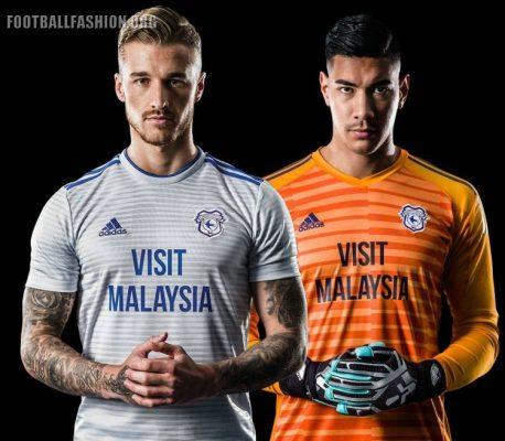 Cardiff City FC 2018 2019 adidas Away and Third Football Kit, Soccer Jersey, Shirt