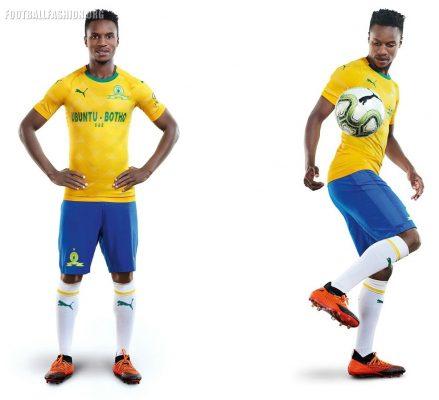 Mamelodi Sundowns 2018 2019 PUMA Home and Away Football Kit, Soccer Jersey, Shirt