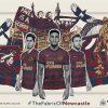 Newcastle United 2018 2019 PUMA Home Football Kit, Soccer Jersey, Shirt