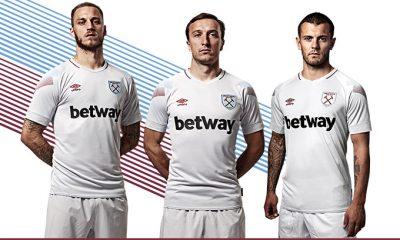 West Ham United 2018 2019 Umbro Third Football Kit, Soccer Jersey, Shirt, Camiseta, Camisa, Maillot, Trikot