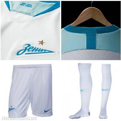 FC Zenit Saint Petersburg 2018 2019 Nike Away Football Kit, Soccer Jersey, Shirt