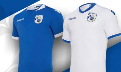 Cyprus 2018 2019 Macron Home and Away Football Kit, Soccer Jersey, Shirt