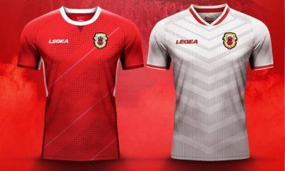 Gibraltar 2018 2019 Legea Home and Away Football Kit. Soccer Jersey, Shirt