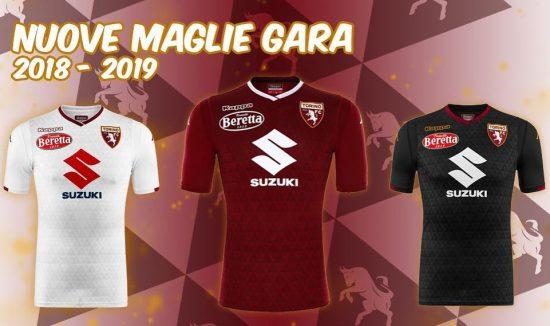 Torino FC Away Authentic Shirt 2018 19 Mens Kappa