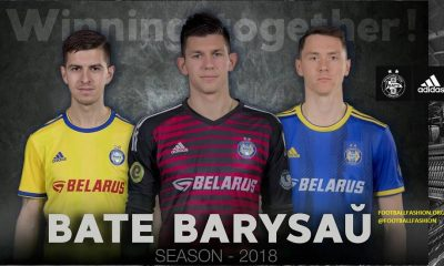 FC BATE Borisov 2018 2019 adidas Home and Away Football Kit, Soccer Jersey, Shirt