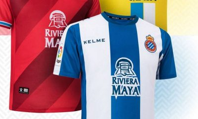 RCD Espanyol 2018 2019 Kelme Home, Away and Third Football Kit, Soccer Jersey, Shirt, Camiseta de Futbol, Equipacion