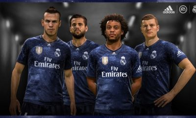 Real Madrid 2018 2019 adidas EA Sports FIFA 19 FUT Fourth Football Kit, Soccer Jersey, Shirt, Camiseta, Camisa, Equipacion, Maillot, Trikot, Tenue, Camisola, Dres