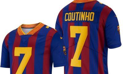 FC Barcelona 2018 2019 Nike NFL Soccer Jersey, Football Kit, Shirt, Camiseta de Futbol, Camisa