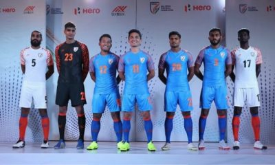India 2019 Six5Six Home and Away Football Kit, Soccer Jersey, Shirt, Asian Cup