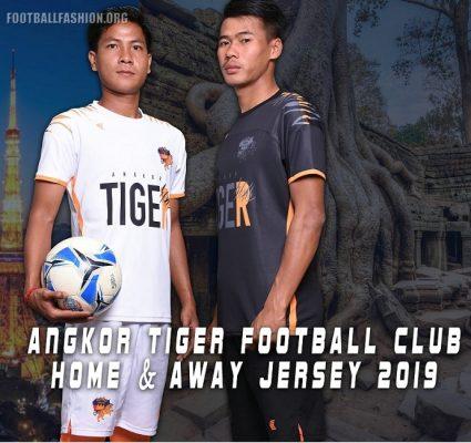 Angkor Tiger FC 2019 Home and Away Football Kit, Soccer Jersey, Shirt