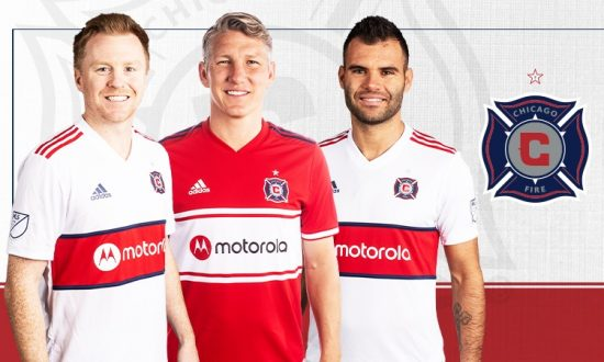 Chicago Fire 2019 2020 adidas Away Soccer Jersey, Football Shirt, Kit, Camiseta de Futbol