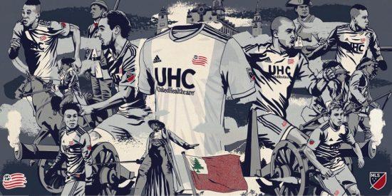 New England Revolution 2019 adidas Away Soccer Jersey, Football Kit, Shirt, Camiseta de Futbol