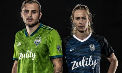 Seattle Sounders and Reign 2019 adidas Home Soccer Jersey, Shirt, Football Kit, Camiseta de Futbol