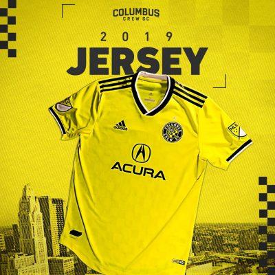 Columbus Crew 2019 adidas Home Soccer Jersey, Shirt, Football Kit, Camiseta de Futbol