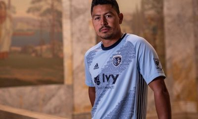 Sporting KC 2019 adidas Home Soccer Jersey, Football Kit, Shirt, Camiseta de Futbol