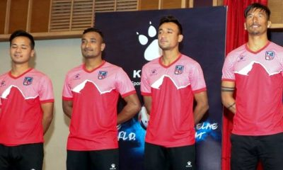 Nepal 2019 Kelme Home and Away Football Kit, Soccer Jersey, Shirt