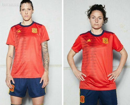 Spain 2019 Women's World Cup adidas Home Football Kit, Soccer Jersey, Shirt, Camiseta de Futbol Mundial Femenino