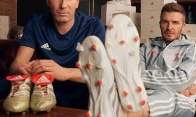 adidas Celebrates 25 Years of the Predator Soccer Boot with Football Stars David Beckham & Zinedine Zidane