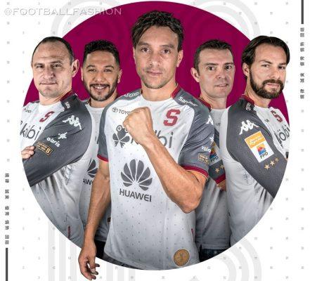 Saprissa 2019 Japan-Inspired Kappa Third Football Kit. Soccer Jersey, Shirt, Camiseta de Futbol Tercera