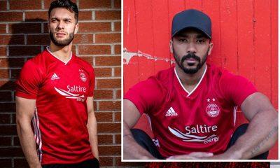 Aberdeen Football Club 2019 2020 adidas Home Football Kit, Soccer Jersey, Shirt