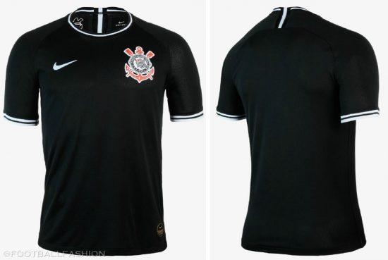 Corinthians 2019 2020 Nike Black Away Football Kit, Soccer Jersey, Shirt, Camisa