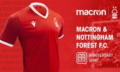 Nottingham Forest 1979 European Cup Macron Celebration Football Kit, Soccer Jersey, Shirt