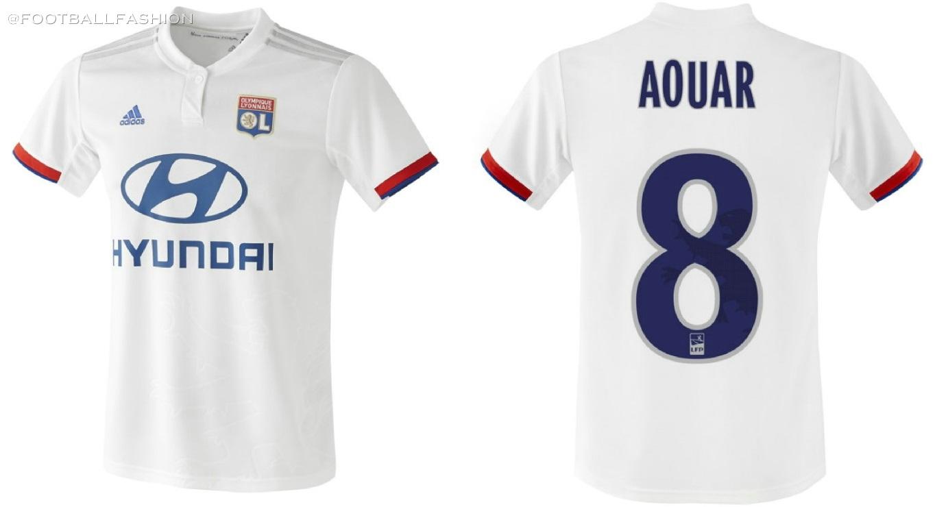 Olympique Lyon 2019/20 adidas Home and Away Kits - FOOTBALL FASHION