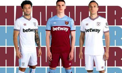 West Ham United 2019 2020 Umbro Home and Away Football Kit, Soccer Jersey, Shirt, Maillot, Trikot, Camisa, Camiseta