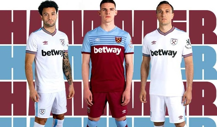 save off 42871 b36be West Ham United 2019/20 Umbro Home and Away Kits - FOOTBALL ...