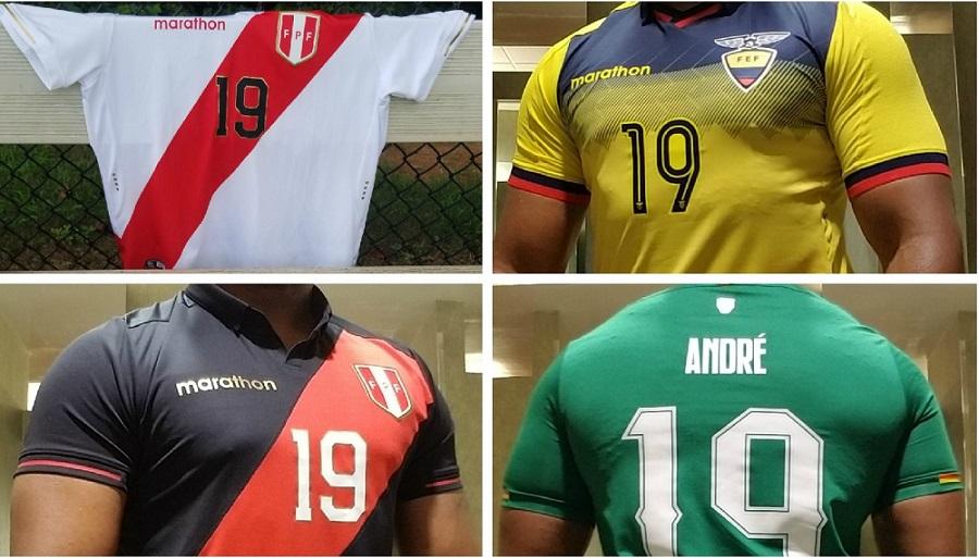 Peru World Cup 2020 Jersey.Up Close Peru Ecuador And Bolivia 2019 Home Away Kits