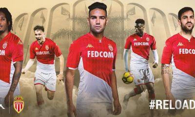 AS Monaco 2019 2020 Kappa Home Football Kit, Soccer Jersey, Shirt, Maillot
