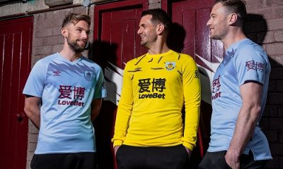 Burnley FC 2019 2020 Umbro Away Football Kit, Soccer Jersey, Shirt