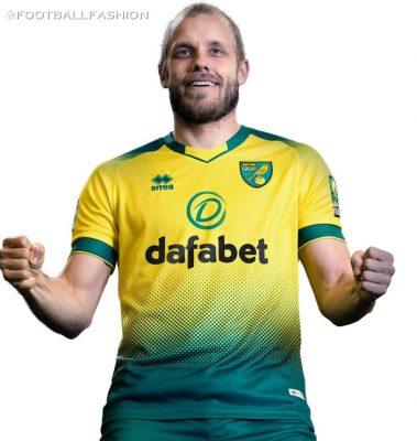 Norwich City 2019/20 Erreà Home Football Kit, Soccer Jersey, Shirt
