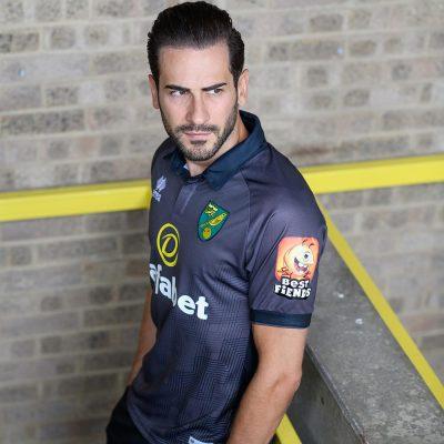 Norwich City 2019 2020 Erreà Third Football Kit, Soccer Jersey, Shirt