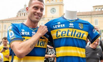 Parma Calcio 2019 2020 Erreà Away Football Kit, Soccer Jersey, Shirt, Gara, Maglia