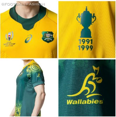 Australia 2019 Rugby World Cup Asics Home and Away Jersey, Shirt, Kit