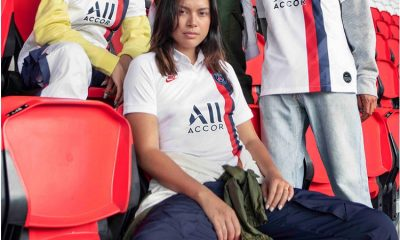 Paris Saint-Germain 2019 2020 Nike White Third Retro Football Kit, Soccer Jersey, Shirt, Maillot, Camiseta, Camisa, Trikot