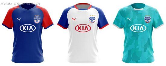 Bengaluru FC 2019 2020 PUMA Home, Away and Third Football Kit, Soccer Jersey, Shirt