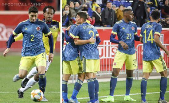 Colombia 2020 Copa América adidas Blue Away Soccer Jersey, Football Kit, Shirt, Camiseta de Futbol